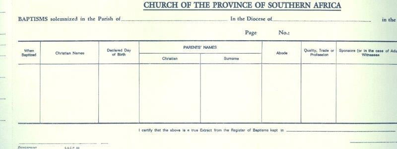 Anglican church of southern africa prayer book