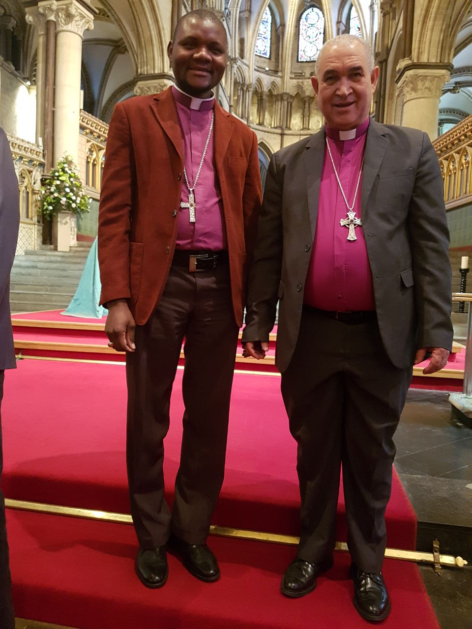 Bishops Vicente & William in Canterbury Cathedral