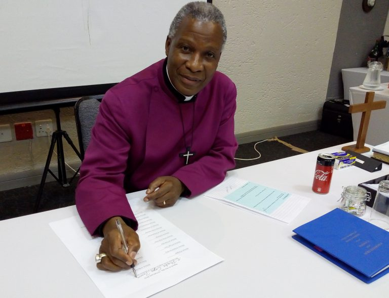Archbishop Thabo Makgoba led the Synod of Bishops in signing the Charter.